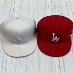LA dodger men's baseball cap hat bundle